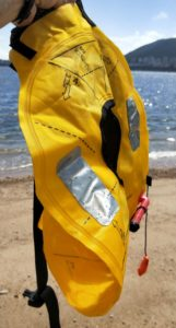 Inflatable life vest / PFD for stand-up paddling
