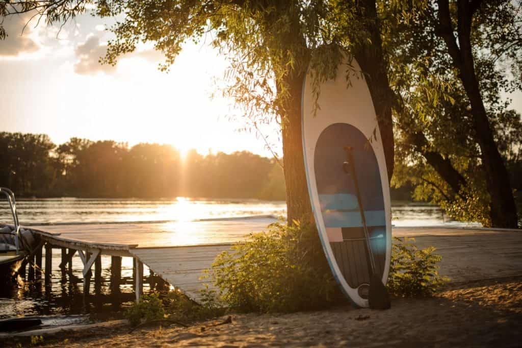SUP board in beautiful nature